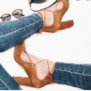 Marc Fisher lace up block heels